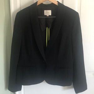 Loft black one button blazer